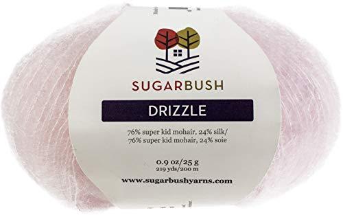 Mohair Silk Yarn - Sugar Bush Yarn Drizzle Fine Weight, Pink Puddle