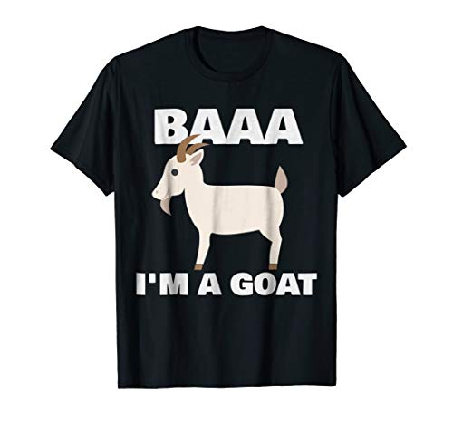 Baa I'm A Goat Costume Animal Funny Halloween Party T-Shirt -