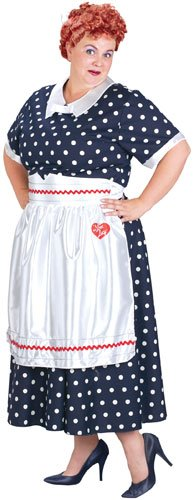 Adult I Love Lucy Polka Dot Dress Costume, Ladies Plus (Dress Sizes 18-22)
