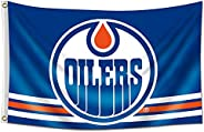 ENMOON Flag for Edmonton Oilers Fans (3x5ft, Vivid Color, 150D Poly) HD Printing Quality Brass Grommets Banner