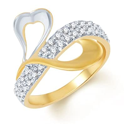 e1033931c Buy Sukkhi Fine Design Gold and Rhodium Plated CZ Ring for Women ...