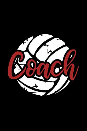 Coach: Volleyball Coach Notebook Blank Lined College Rule ()