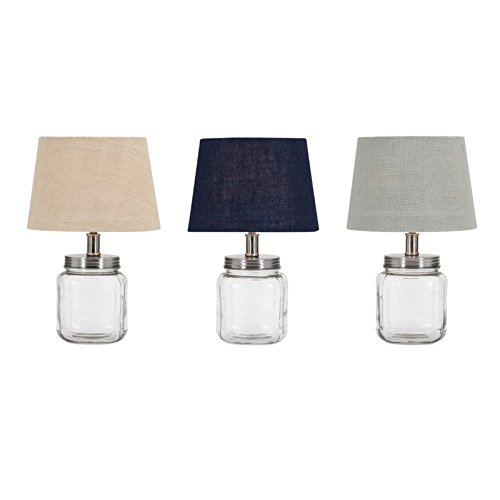 3-Pc Ella Elaine Fillable Glass Jar Lamp Set by Imax