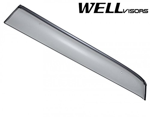 Replacement for 2006-2013 Land Rover Range Rover Clip-ON Chrome Trim Smoke Tinted Side Rain Guard Window Visors Deflectors 3-847LR004 by WellVisors (Image #5)