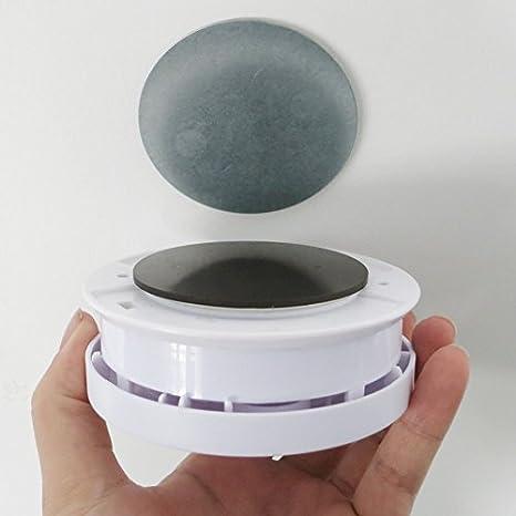10 ann/ées Magnetic adhesif SEBSON 4X D/étecteur de Chaleur Pile int/égr/ée au Lithium Longue dur/ée Mini D/étecteur de Chaleur la Cuisine//Salle de Bain sans vis /Ø50 x 43,5mm