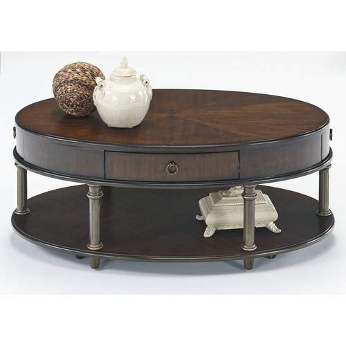 Progressive Furniture T434-30 Regent Court Castered Oval Cocktail Table Cherry