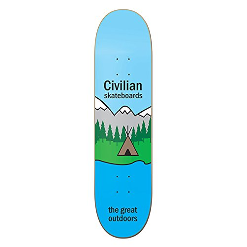 CIVILIAN SKATEBOARDS Team The Great Outdoors Skateboard Deck 7.75