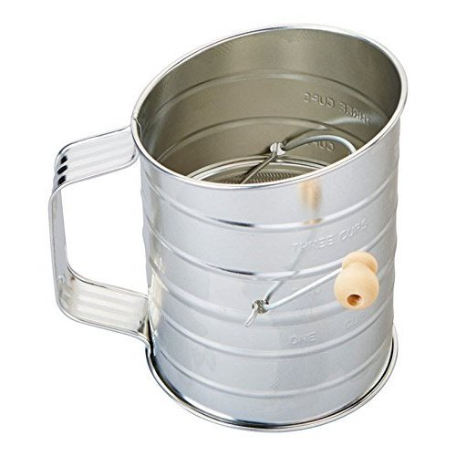 Sifter W/Crank Tin 3cp by Good Cook