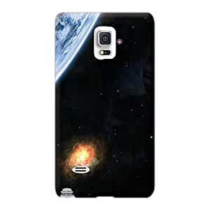 Shockproof Cell-phone Hard Covers For Samsung Galaxy Note 4 (sXF519BBjq) Provide Private Custom Beautiful Space Image
