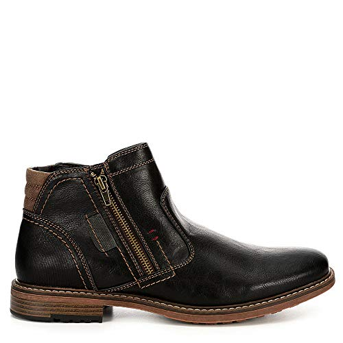 Day Five Mens Dual Side Zip Up Ankle Boot Shoes - stylishcombatboots.com