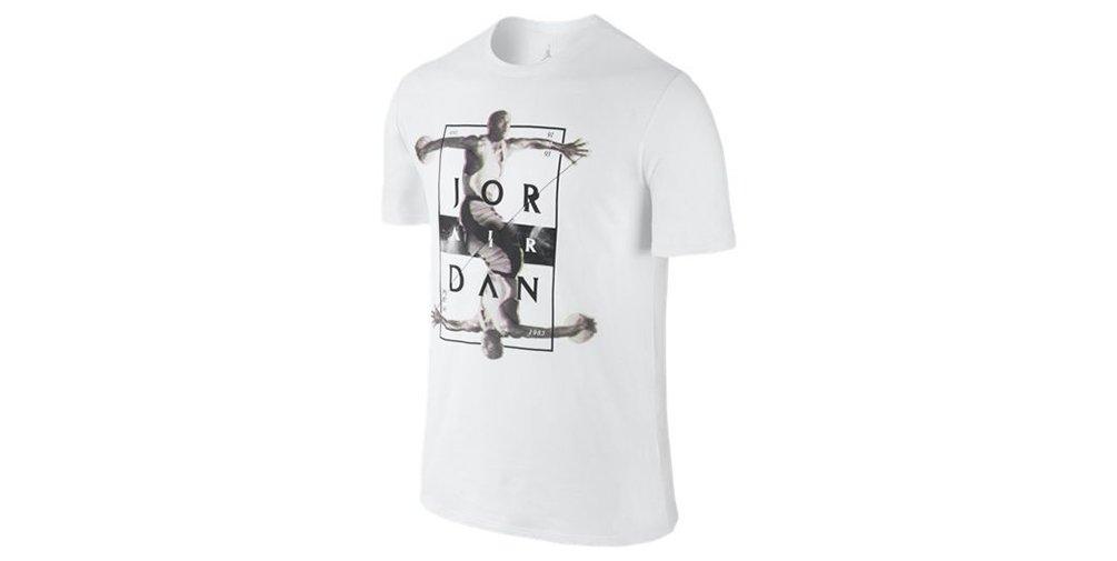 Jordan Dynamic Tee (L, White/Black) by Jordan