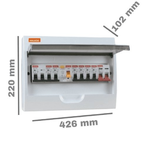Caja distribucion electrica Superficie IP30 de 18 modulos Blanco, Cablepelado® Cablepelado®