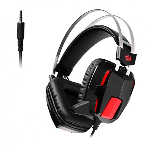 Redragon H201 Stereo Gaming Headset for PS4, Xbox One, PC and Smartphones, Over Ear Noise Reduction Gaming Headphone with Mic, Bass Surround, Universal 3.5mm