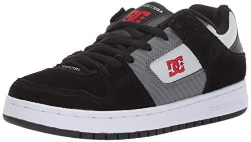DC Men's Manteca Skate Shoe Black/Grey/red 12 M US