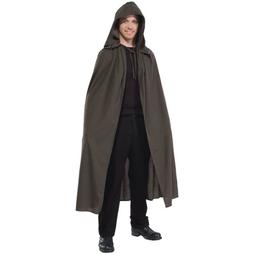 Rubie's Costume Men's Lord Of The Rings Adult Elven Cloak, Brown, Standard (Adult Hobbit Costume)