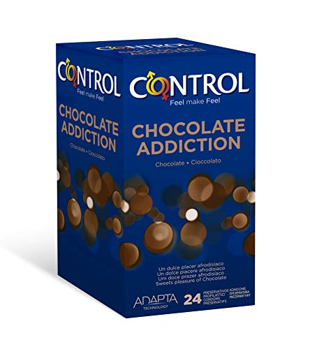 🥇 Control Chocolate Addiction – Pack con 24 de Preservativos con Aroma a Chocolate