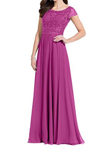 A Partykleider Spitze Lang Pink Chiffon Brautmutterkleider Damen Linie Charmant Abendkleider Blau w78FnBxOq