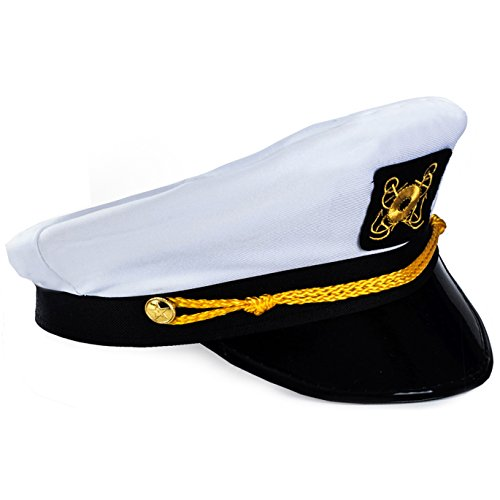 Funny Party Hats Captain Hat - Yacht Boat Sailing Fishing Captains Cap]()