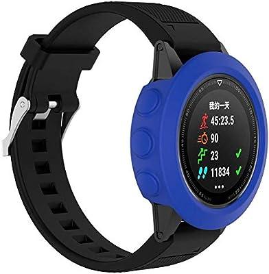 Gusspower Protector de Silicona Slim Watch Funda de Reloj para Garmin Fenix 5 GPS Watch (Azul Oscuro)