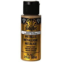 FolkArt K658 Metallic Acrylic Paint in Assorted Colors (2-Ounce), 658 Antique Gold