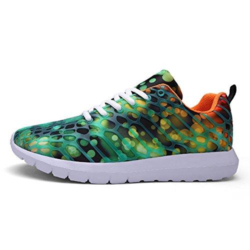 Fluores Women Orange Unisex Fashion Shoes Breathable 448 Men Athletic Couple green Sneakers Casual fereshte Sports wf1F7xqPn5