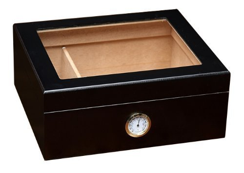 Prestige Import Group - The Chalet Glass Top Cigar Humidor - Capacity: 20-50 - Color: ()