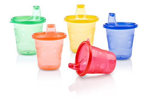 Nuby 4-Pack Wash or Toss Cups with Spout, Colors May Vary (Sippie Cups For Toddlers compare prices)