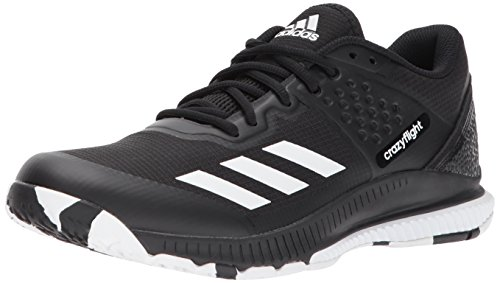 adidas Women's Crazyflight Bounce W Volleyball Shoe, White/Black, 11.5 Medium -
