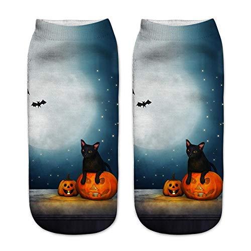 UOKNICE Halloween Cute Casual Business Socks 3D Pumpkin Printing Medium Sports Socks -