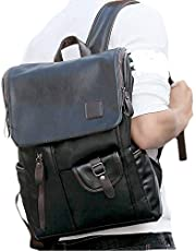 ZJX168 Backpack Business Charging Resistant Computer 14 inch Anti Theft Leather Backpacks Men Rucksack Outdoor