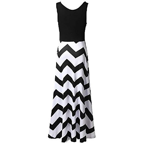 Taille Maxi Femmes Bohème Dress Rayures Coloré Manches Oudan Mariage b6ygY7f