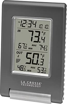La Crosse Technology WS-9080U-IT Wireless IN/OUT Temperature Station featuring Atomic Self-setting time & MIN/MAX records from La Crosse Technology