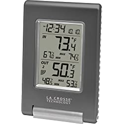 La Crosse Technology WS-9080U-IT-CBP Wireless IN/OUT Temperature Station featuring Atomic Self-setting time & MIN/MAX records