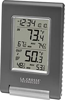 La Crosse Technology WS-9080U-IT Wireless in/Out Temperature Station Featuring Atomic Self-Setting Time and Minimum/Maximum Records (B0013HO0E6) | Amazon price tracker / tracking, Amazon price history charts, Amazon price watches, Amazon price drop alerts