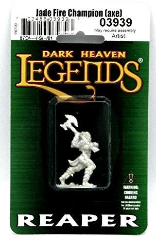 Reaper Miniatures Jade Fire Champion (Axe) #03939 Dark Heaven Unpainted Metal