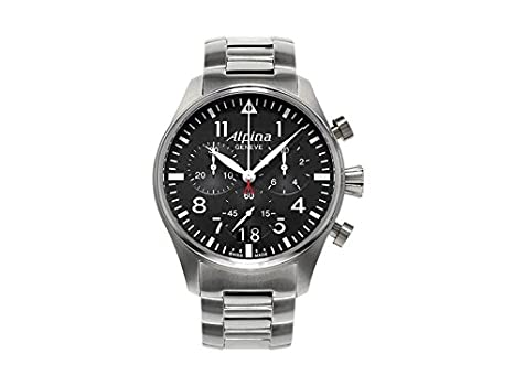 Amazoncom Alpina Startimer Black Dial Stainless Steel Bracelet - Buy alpina watches