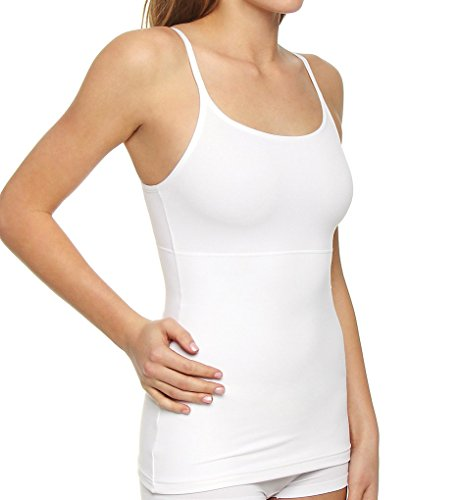 (Self Expressions Suddenly Skinny Tank (00489) M/White)