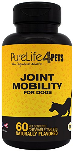 Hip and Joint Supplement for Dogs – 60 chewable tablets, with Astaxanthin, Hyaluronic Acid, Boswellia Extract, Biovaflex - Provides antioxidants – Supports Joint function and joint mobility – Made in USA