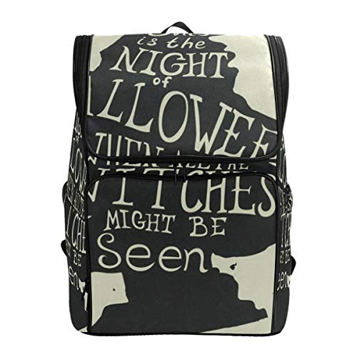 Travel Backpack Halloween Grungy Witch in Hat Quote