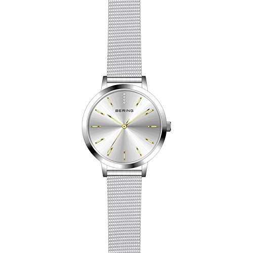 BERING Time 13434-001 Women's Classic Collection Watch with Mesh Band and scratch resistant sapphire crystal. Designed in Denmark