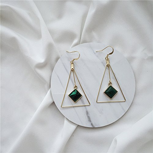 - [SS] Emerald Triangle exaggerated earrings ear clip