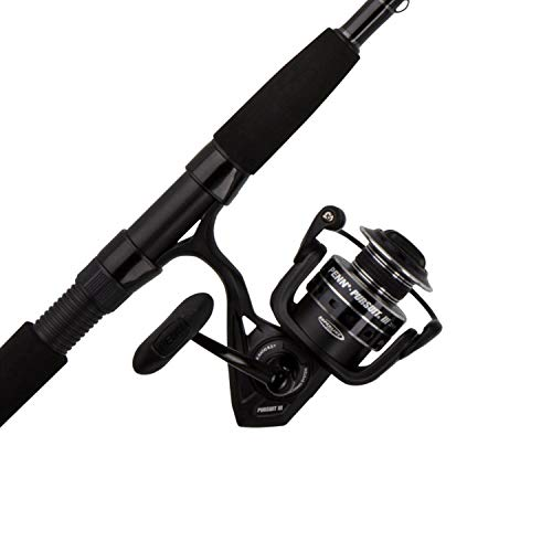 Penn, Pursuit III Saltwater Spinning Combo, 6000, 5.6:1 Gear Ratio, 8' Length 2pc, 12-25 lb Line Rating, Ambidextrous