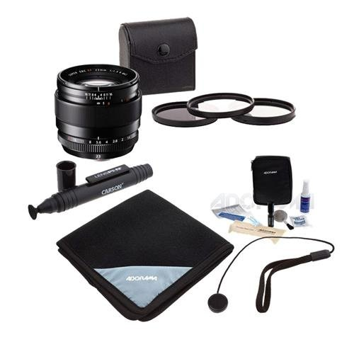 Fujifilm XF 23mm (35mm) F/1.4R Lens - Bundle with 62mm Filter Kit (UV/CPL/ND2), Lens Wrap (15x15), Cleaning Kit, Capleash II, LensPen Lens Cleaner by Fujifilm