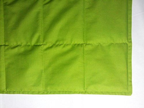 "Peace Weighted Products - Medium Weighted Blanket Lime Cotton 40"" x 54"" (10 Pounds) by Peace Weighted Products"