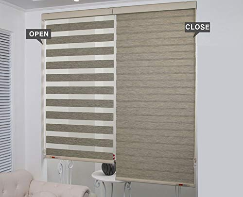 House By Design Zebra Long Blinds (Brown) (39w X 79h)