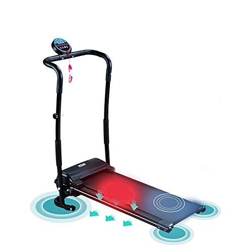 Happystore999 Electric Folding Treadmill 500W Mini Walking Treadmill with LCD Display Household Motorized Power Running Fitness Small Jogging Incline Machine for Home Gym HSM-T02