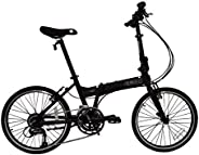 "SOLOROCK 20"" 27 Speed Aluminum Folding Bike - Fire"