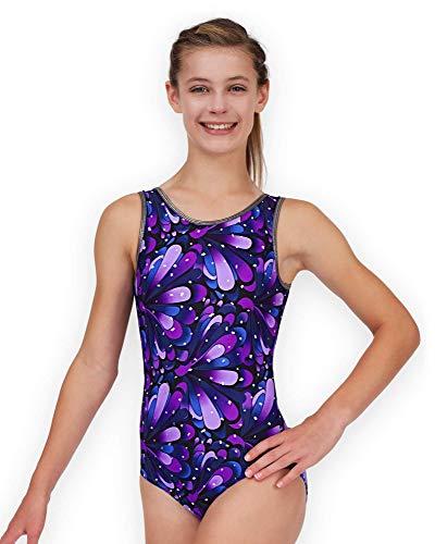 Leap Gear Gymnastics Leotard - Purple Peacock - C Large