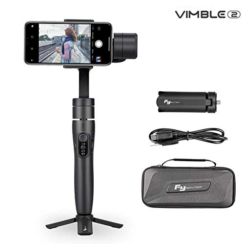 Feiyu Vimble 2 Smartphones Gimbal Stabilizer, 3-Axis Handheld Gimbal for iPhone Xs Max Xr X 8 Plus 7 6 SE Android Smartphone Samsung Galaxy S9+ S9 S8+ S8 S7 S (Gray)