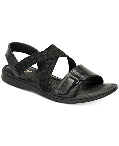 Born Womens Britton Leather Open Toe Casual Slide Sandals, Black, Size 11.0 Born Black Leather